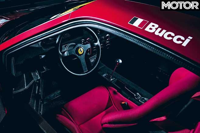 120000 Km Ferrari F 40 GT Cockpit Jpg