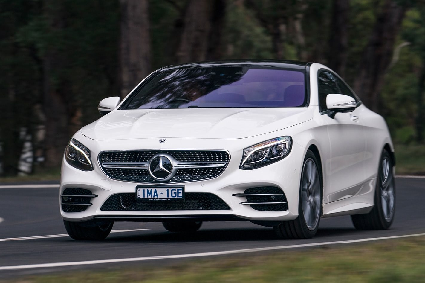 Mercedes Benz S Class Coupe Front Qtr Jpg