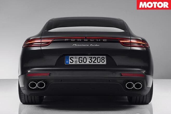 2017 Porsche Panamera Turbo rear