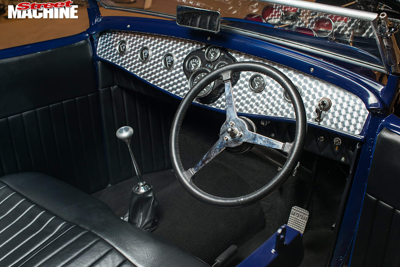 Ford Model A roadster dash