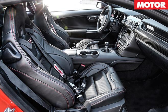 KAR Motorsport Ford Mustang interior