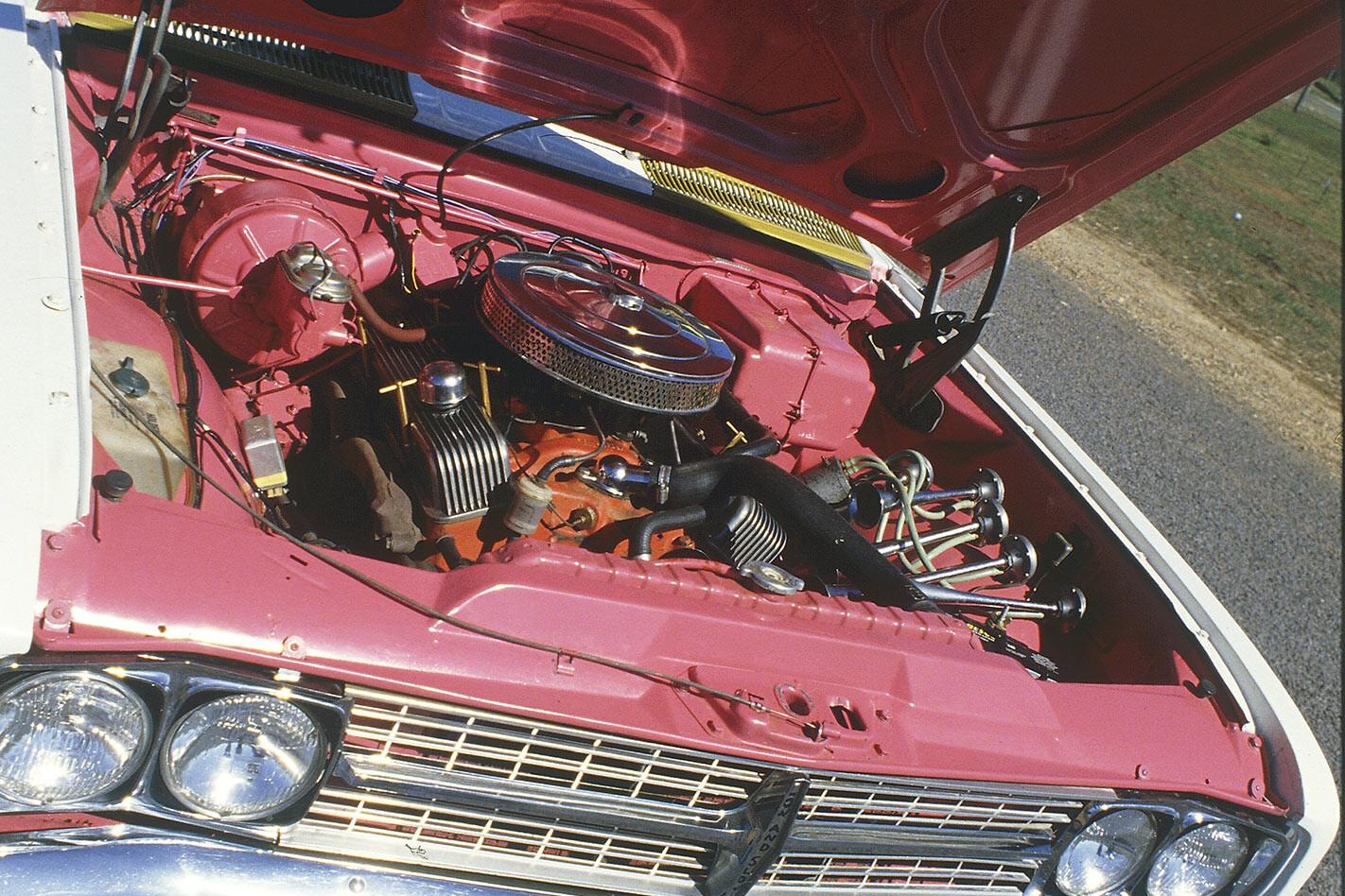 Burrito Durado Holden Brougham engine bay