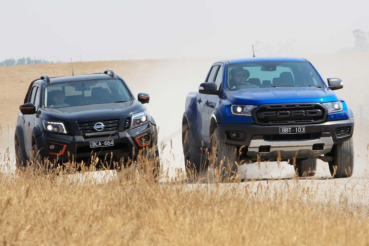 Ford Ranger Raptor vs Nissan Navara N-TREK Warrior comparison