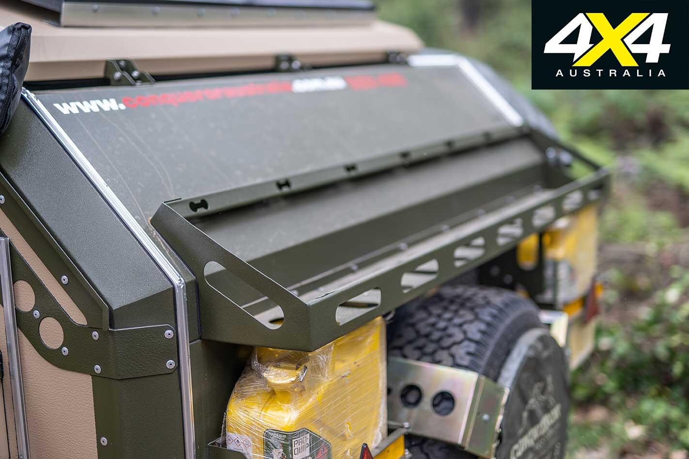 Conquerer UEV 490 Camper Trailer Rear Rack Jpg
