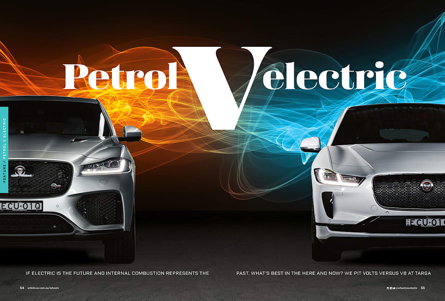 Jaguar Petrol vs Electric