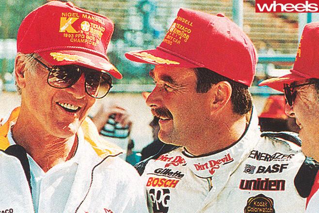 Paul -Newman -with -race -team