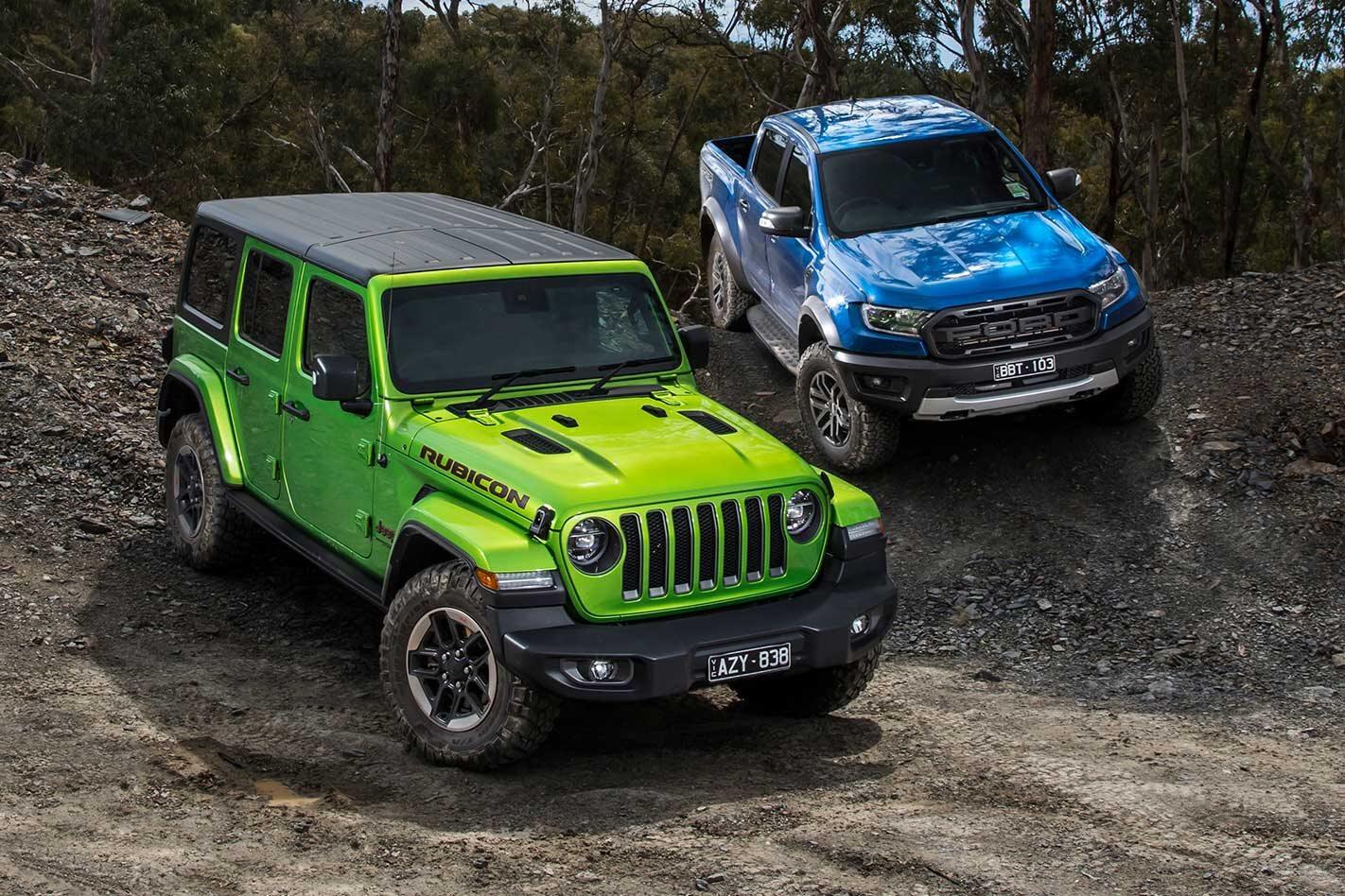 Ford Ranger Raptor vs Jeep Wrangler Rubicon comparison