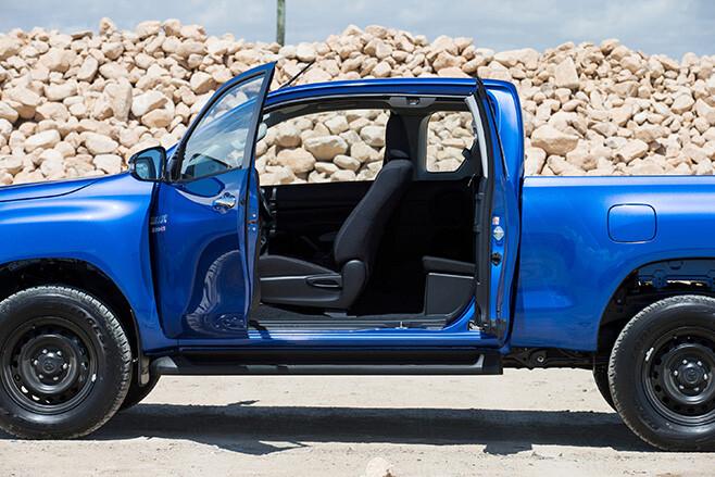 Toyota HiLux Side Doors Open