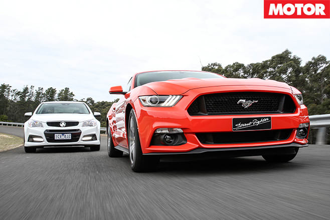 Mustang vs Commodore Front