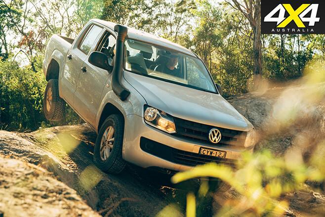 Volkwagen amarok driving downhill
