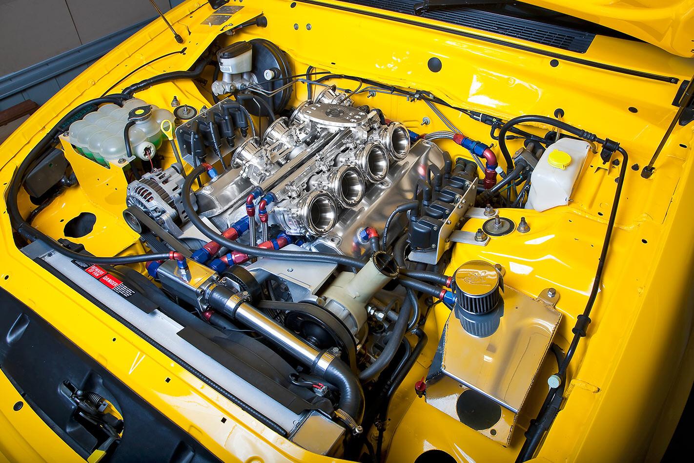 Ford Falcon XR8 ute engine bay