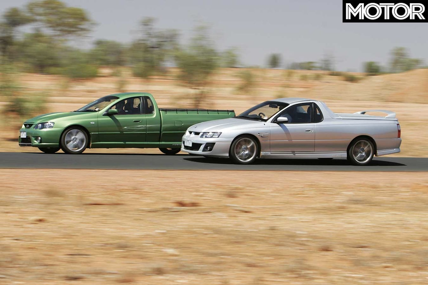 All Aussie Showdown 2005 HSV Maloo R 8 Vs FPV Pursuit Performance Comparison Jpg
