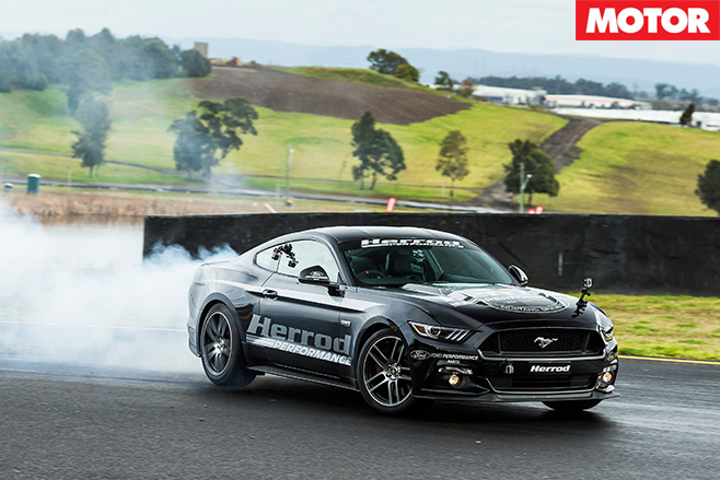 Herrod Performance Ford Mustang burnout