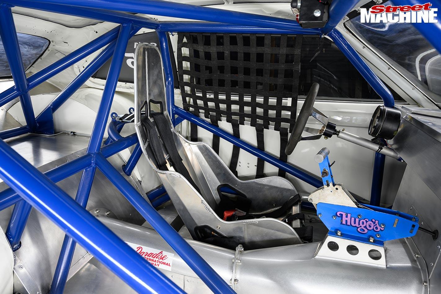 Ford Pinto drag car interior