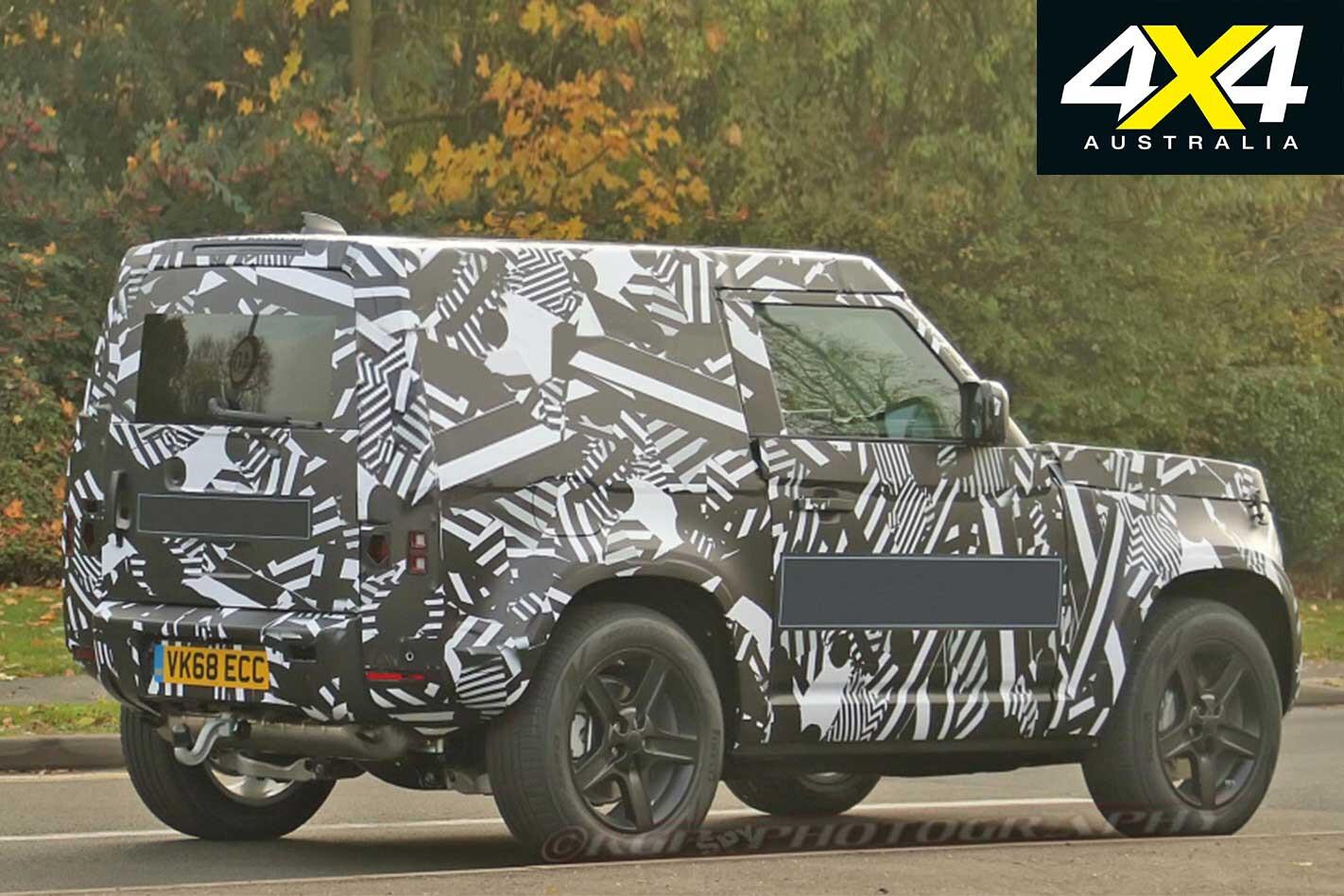 2020 Land Rover Defender SWB Spy Shots Rear Jpg