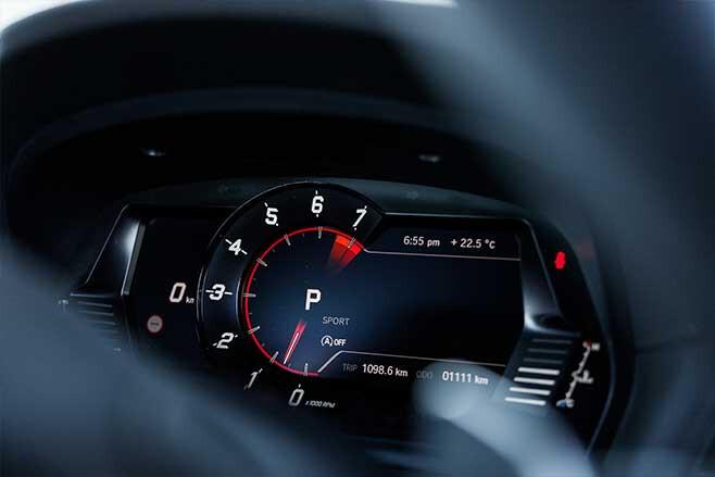 Toyota Supra digital instrument display