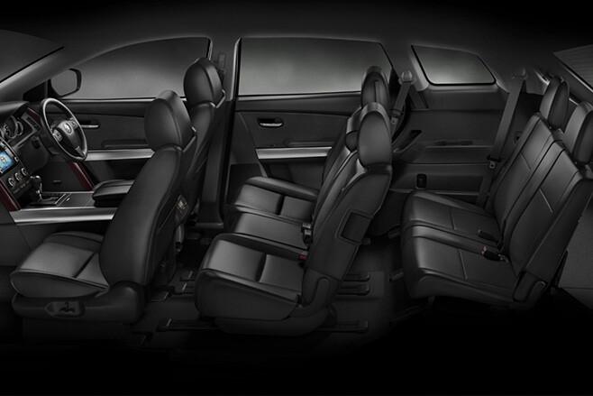 Seven Seat SUV black interior