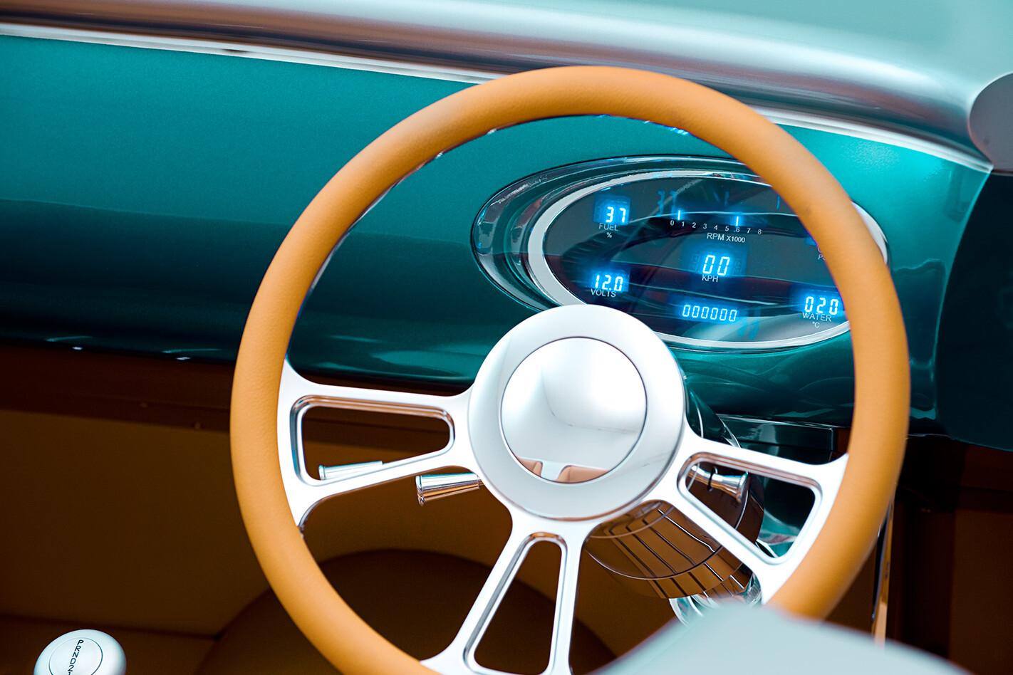 Ford Roadster steering wheel