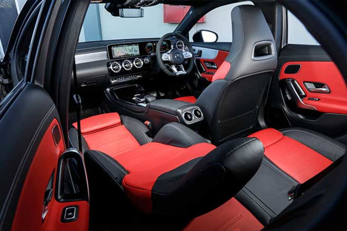 The A45 AMG interior is loaded with equipment as standard