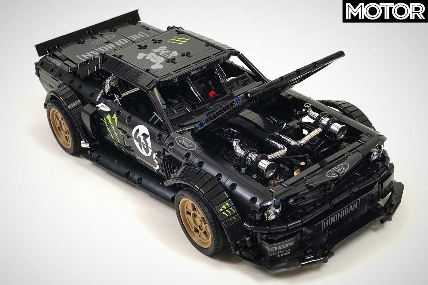 Realistic Lego Mustang Hoonicorn V 2 Model Engine Bay Jpg