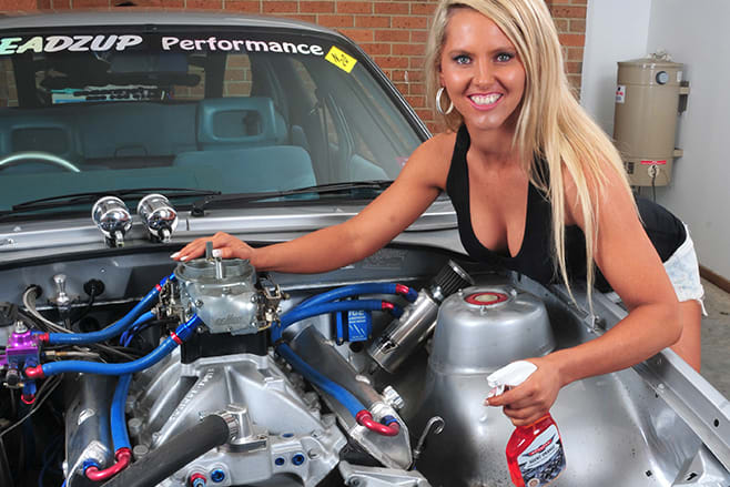 cleaning car engines