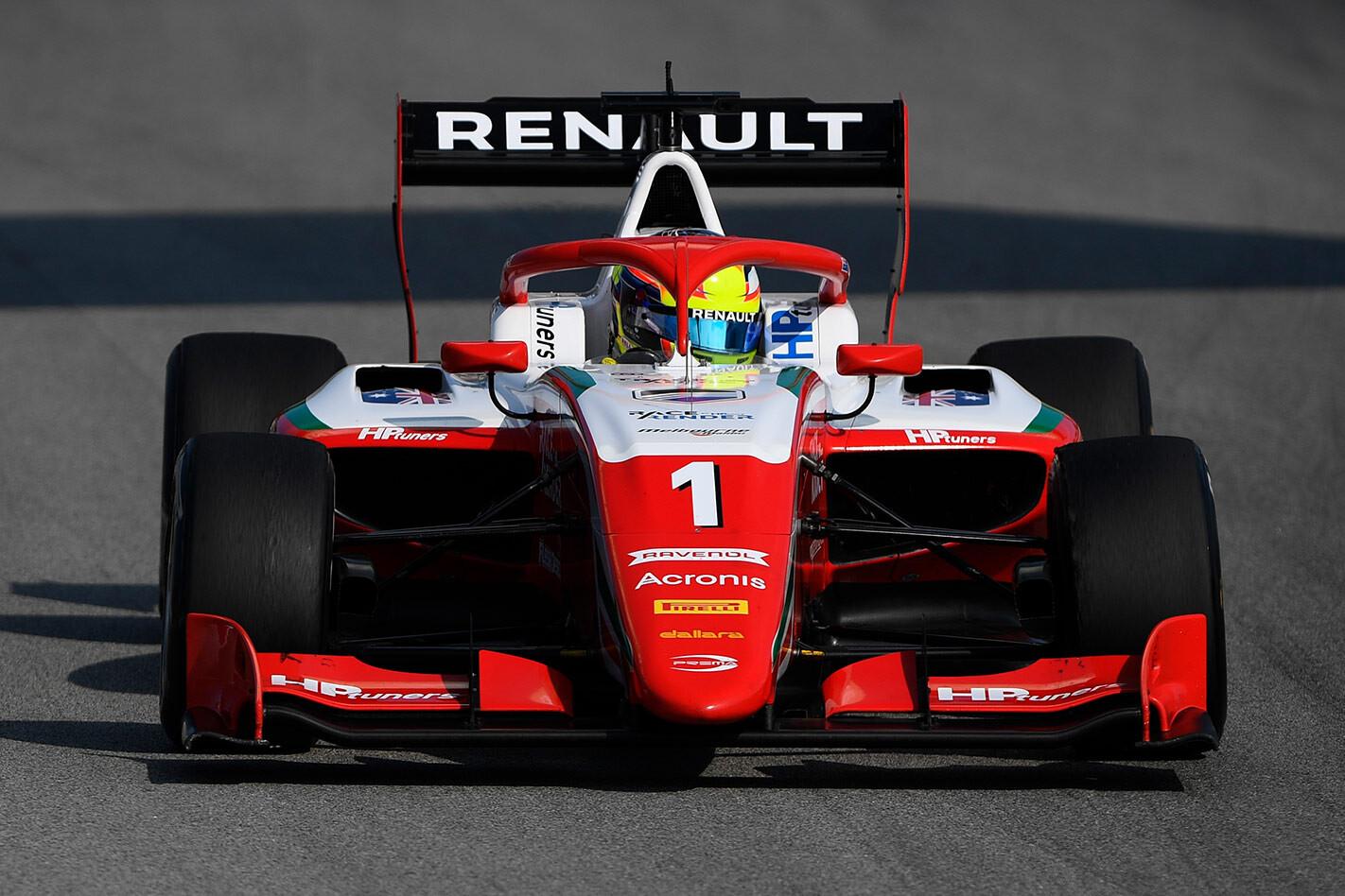 Oscar Piastri F1 test