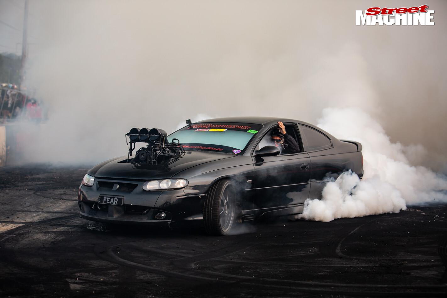 FEAR Monaro burnout car