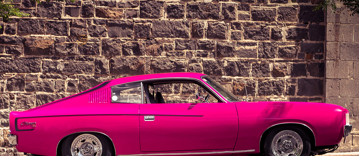 Chrysler Valiant Charger XL pink 1 nw