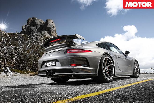 Porsche GT3 Performance car of year rear