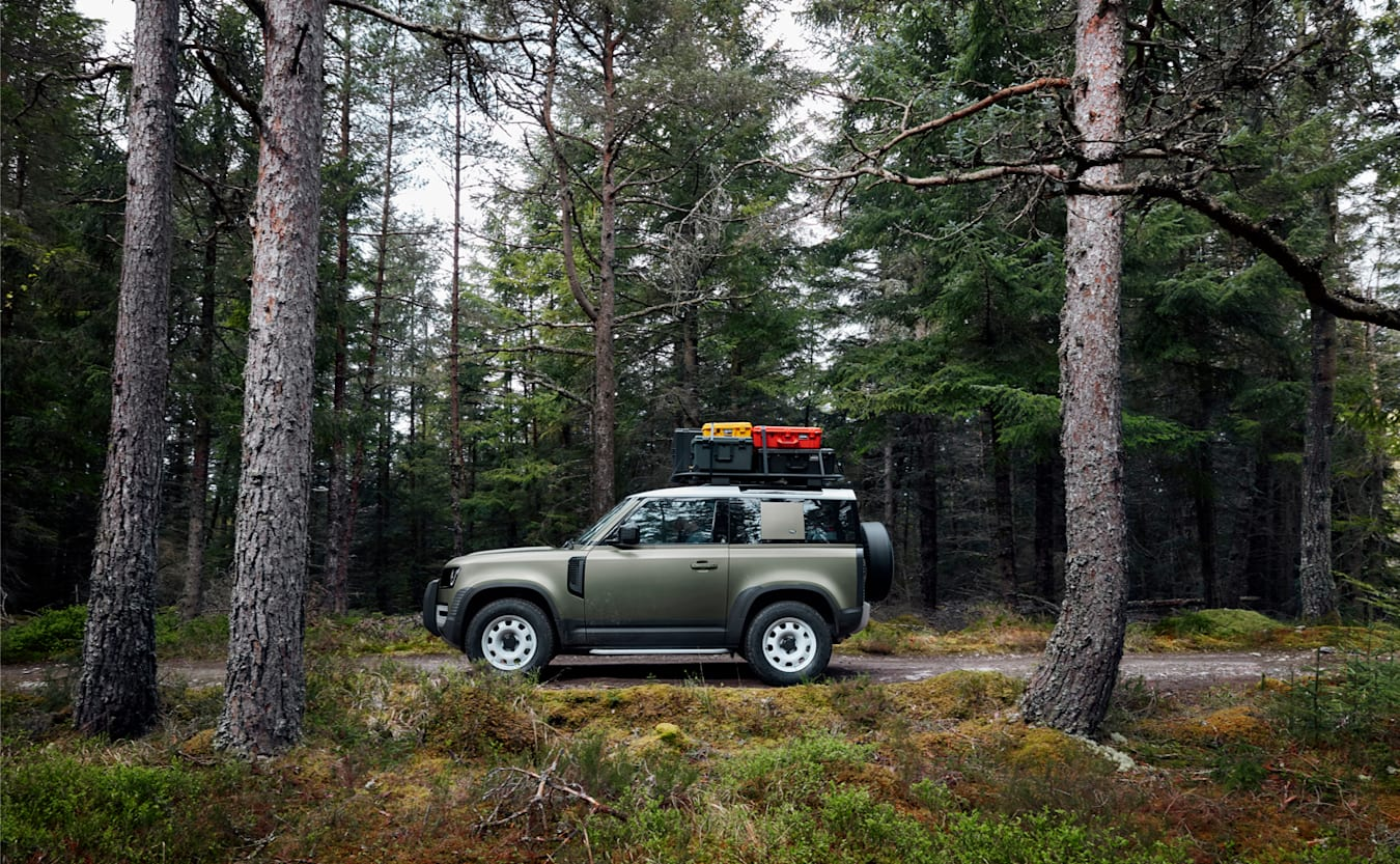 Land Rover Defender trail