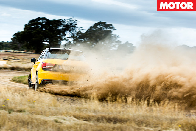 Audi S1 flicking dirt