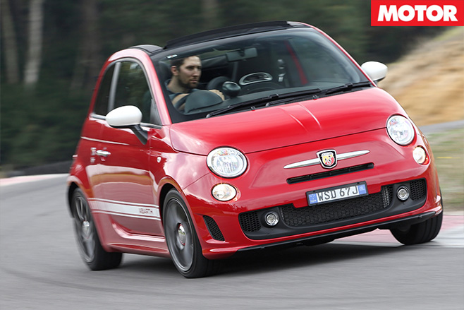 Abarth 595 driving front