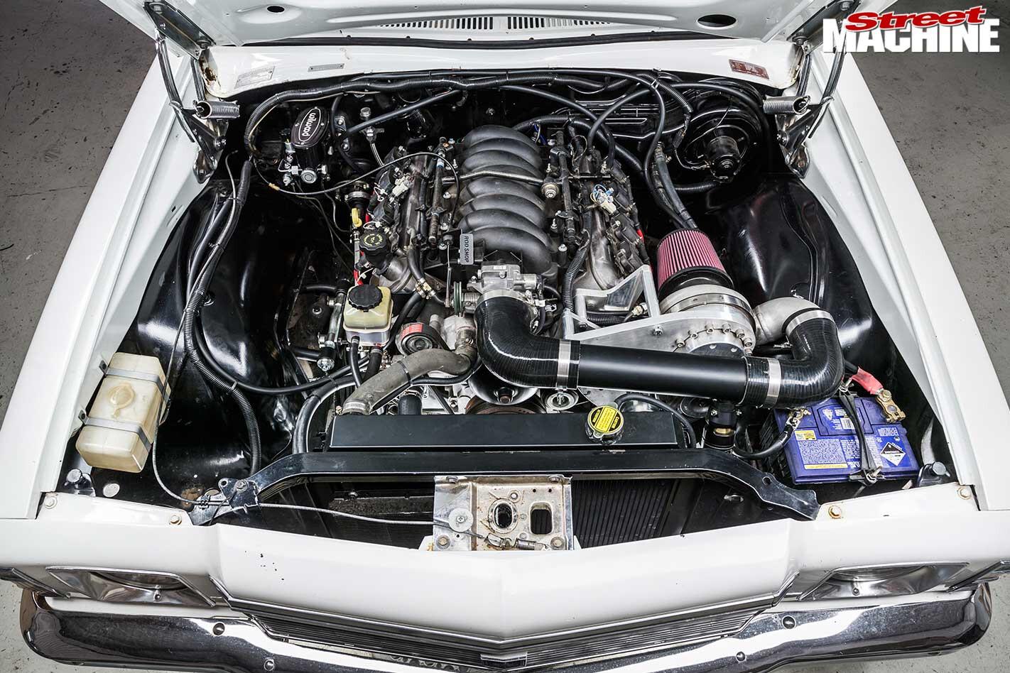 Holden HJ Kingswood engine bay
