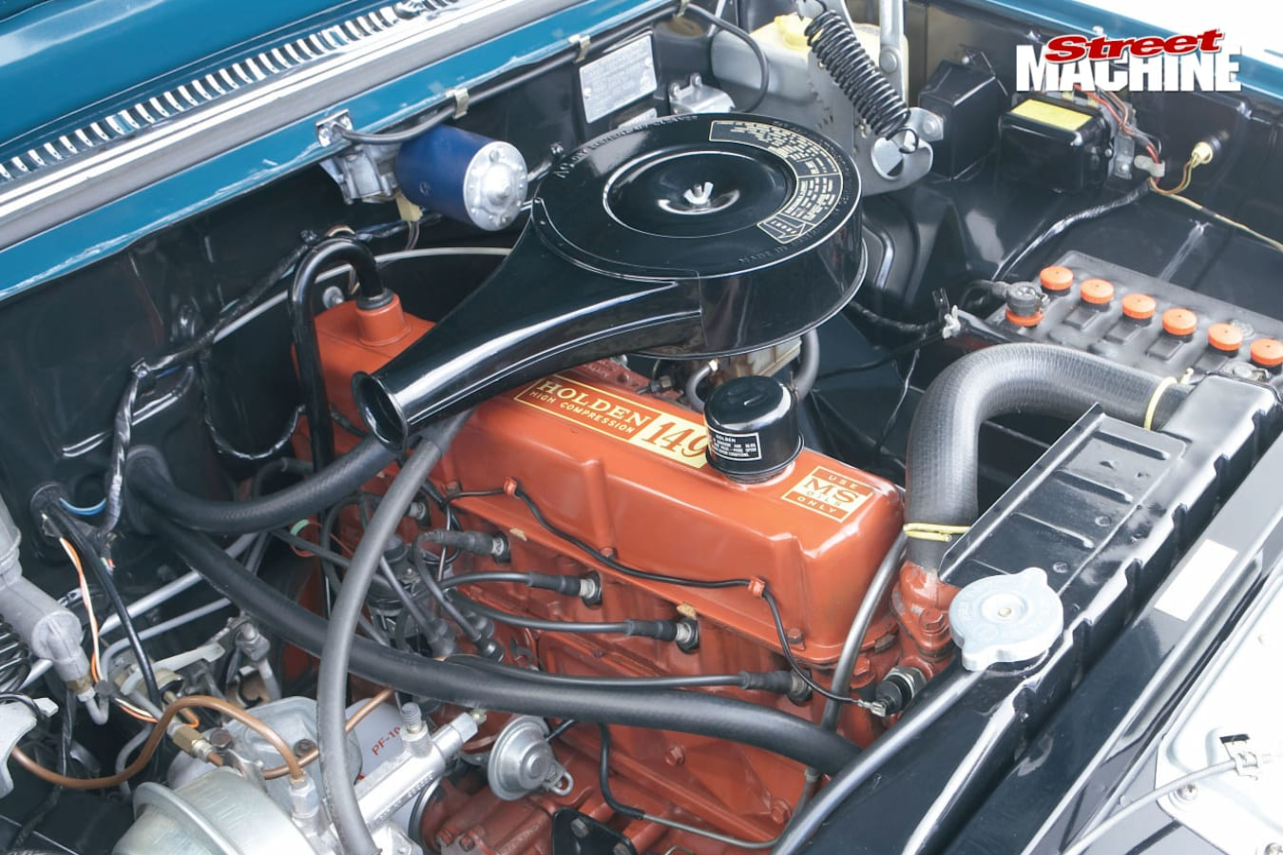Holden EH engine bay