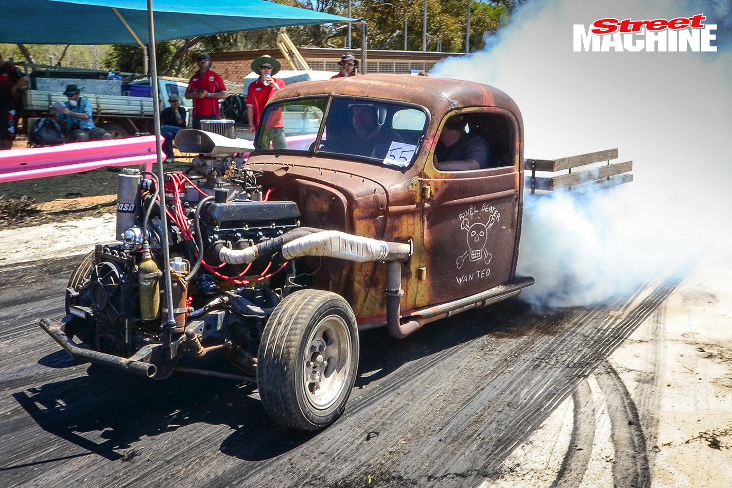 Rusty Hot Rod Burnout 8297