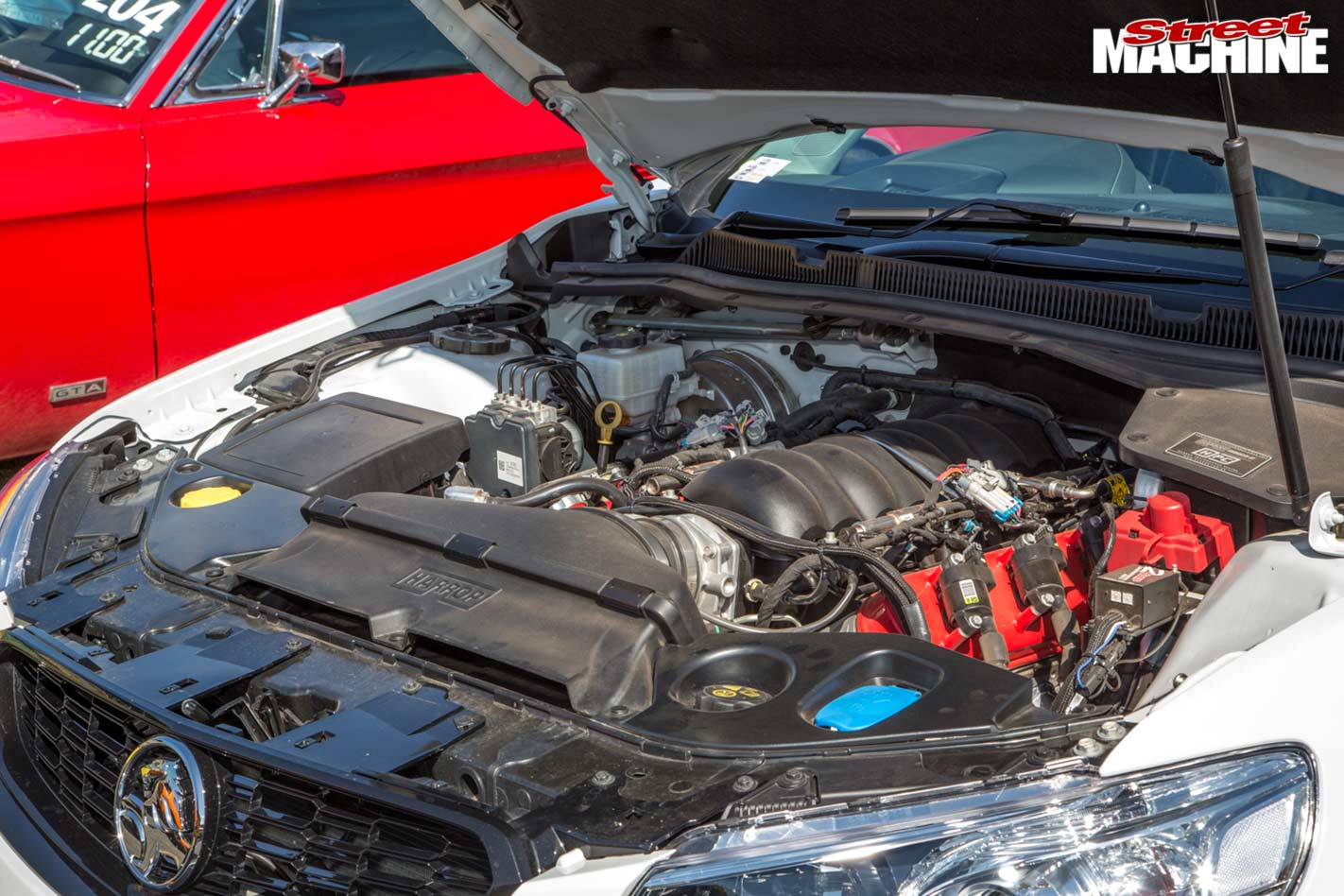 Holden VF sportwagon engine bay
