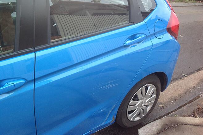 Honda Jazz Rear side panel damaged