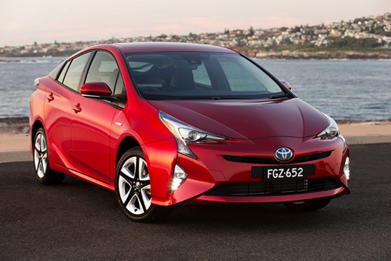 Toyota Prius Red Front Side Jpg