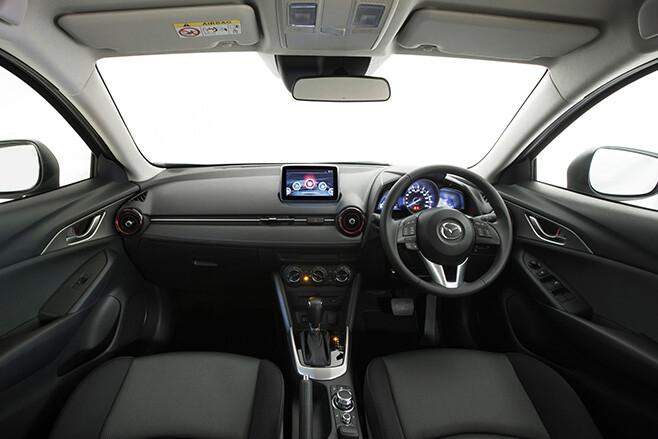 Mazda CX-3 interior steering wheel