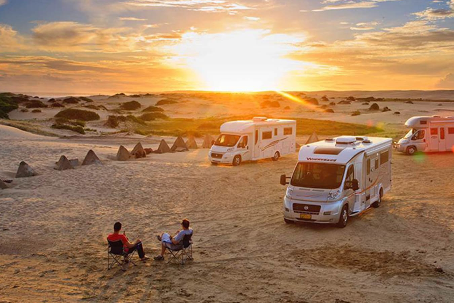 Caravans in Desert
