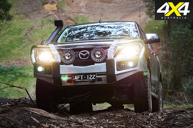 Mazda bt-50 front with lights
