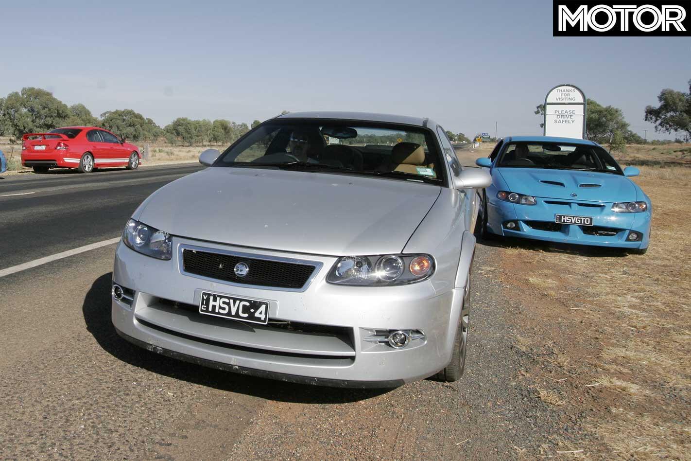 All Aussie Showdown 2005 HSV GTO Coupe Vs HSV Coupe 4 Front Jpg
