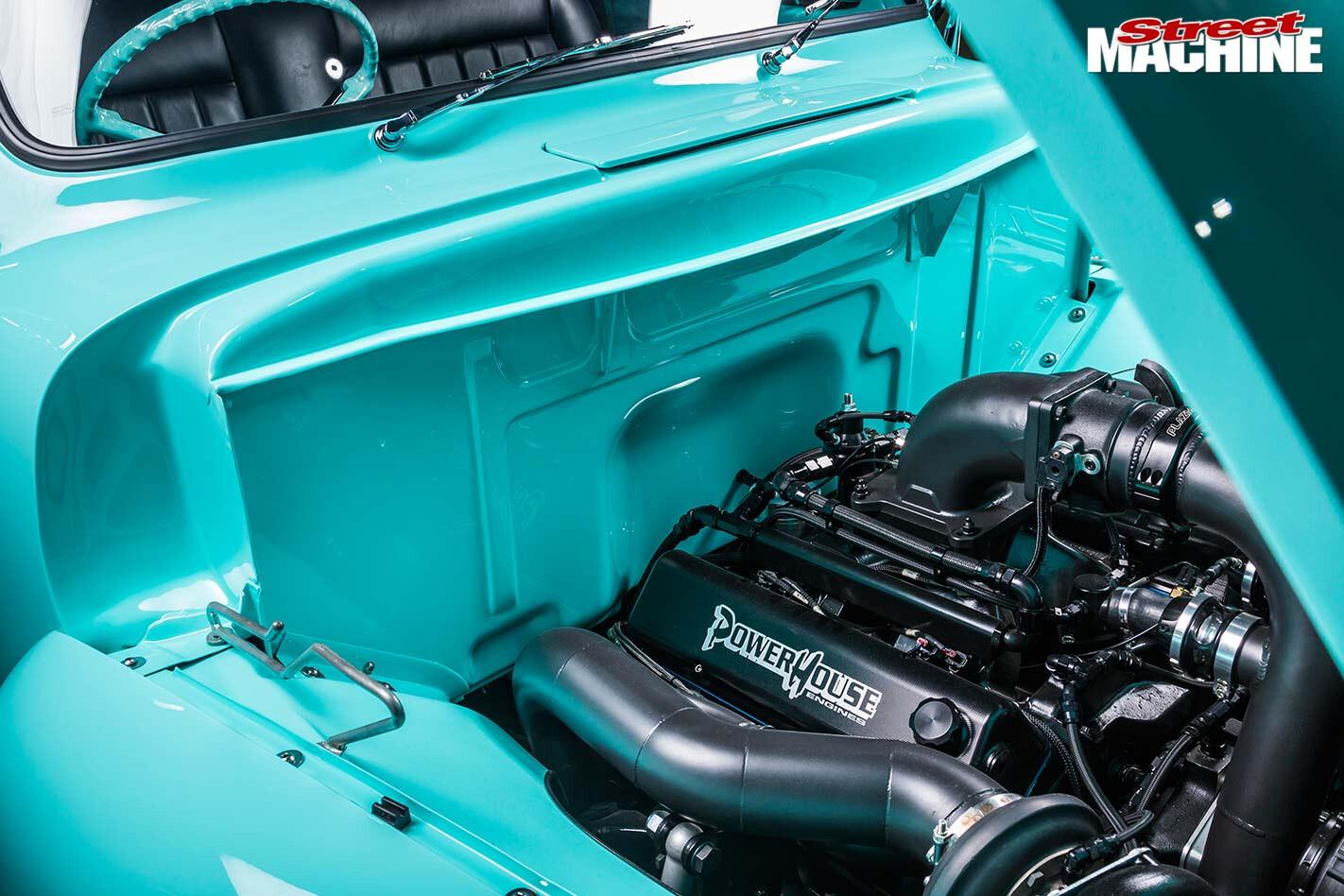 Ford F100 engine bay