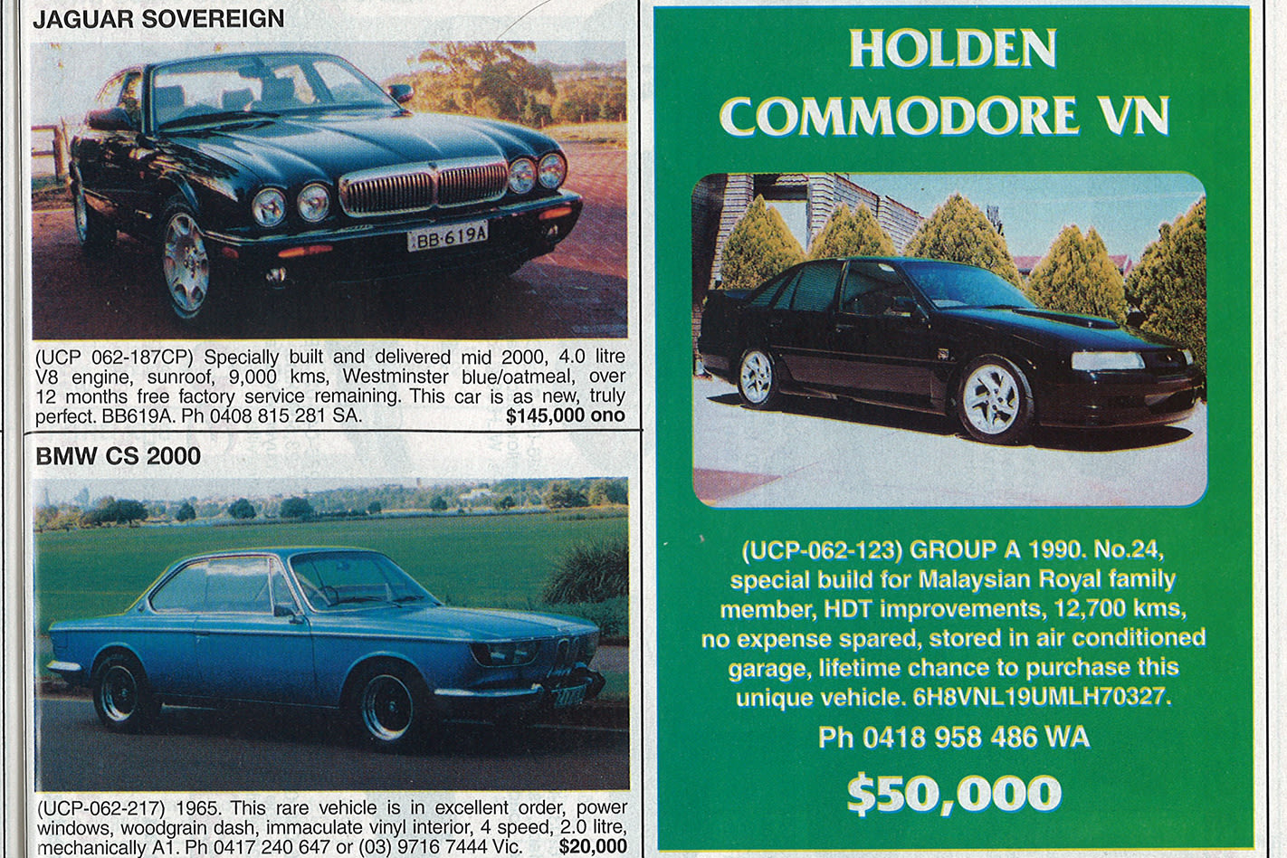 Holden VN Group A SS ad