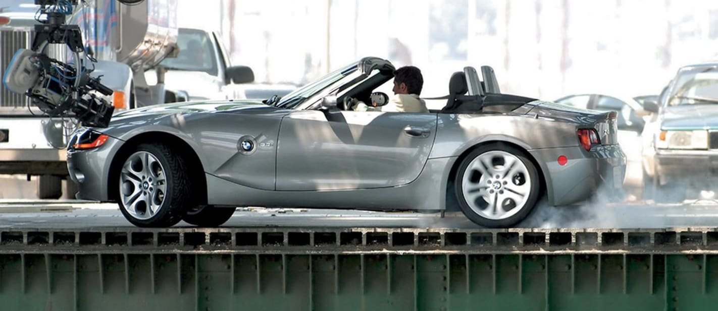 BMW Z4 on set of The Hire
