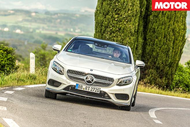 Mercedes driving forward