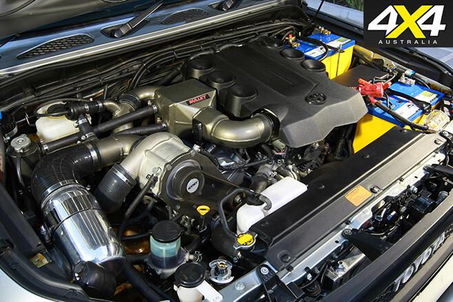 Custom FJ Cruiser supercharged engine