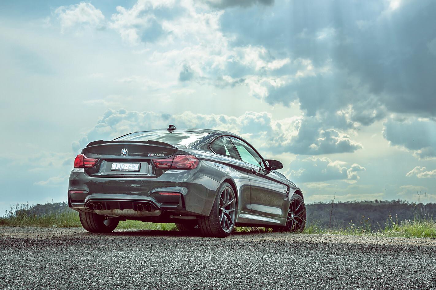 Audi RS 5 V BMW M 4 V C 63 S M 4 CS Rear Quarter Static Jpg