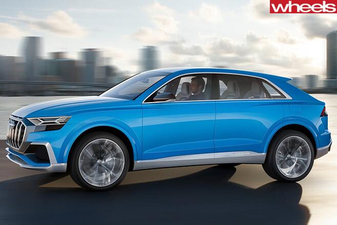 2017-Audi -Q8-Quattro -concept -driving -side