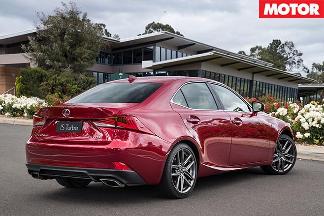 2017 Lexus IS sedan rear